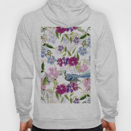 Vintage & Shabby Chic - Blue Jay and Flowers Hoody