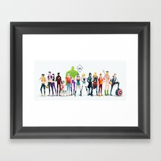 super rockers Framed Art Print