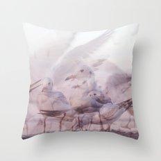 SONGS OF BIRDS | White Seagulls Throw Pillow
