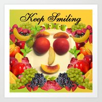 Keep Smiling! Art Print