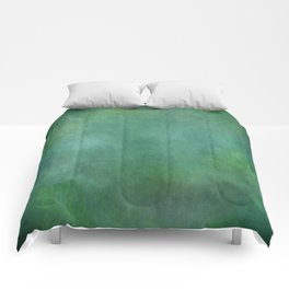 Looking into the depths of green Comforters