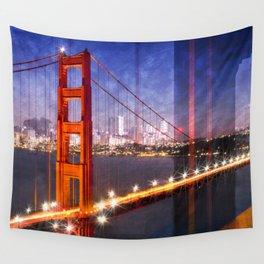 City Art Golden Gate Bridge Composing Wall Tapestry