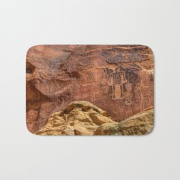 Three Kings Petroglyph - Mcconkie Ranch - Utah Bath Mat