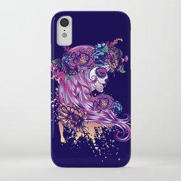 Purple sugar skull iPhone Case