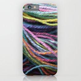 Rainbow Handspun Yarn / Multi-colored iPhone Case
