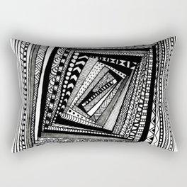 Crooked Squares Rectangular Pillow