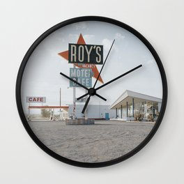 Roys Motel and Cafe | Route 66 Wall Clock