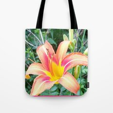Colorful Lily in the Wild Tote Bag