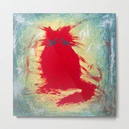 The Red Cat Metal Print