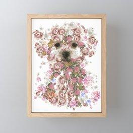 Vintage doggy Bichon frise.DISCOVER Framed Mini Art Print