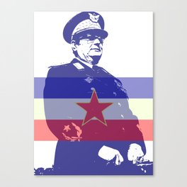 JOSIP BROZ TITO CHAIRMAN YUGOSLAVIA Canvas Print