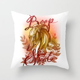 Boop the snoot Throw Pillow