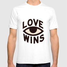 Love Wins Mens Fitted Tee White SMALL
