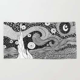 Van Gogh - Starry Night Beach Towel