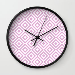 Purple Geometric Diamond Pattern Wall Clock