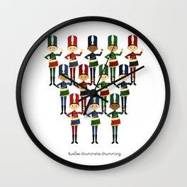 Twelve Drummers Drumming Wall Clock