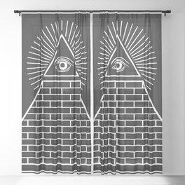 The Eye of Providence Pyramid Sheer Curtain