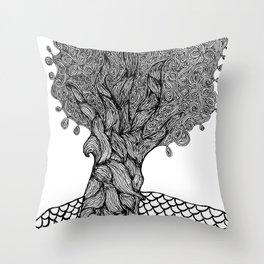 Gnarled Tree Throw Pillow