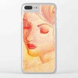 Paloma Roja Clear iPhone Case