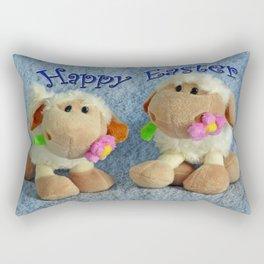 Happy Easter Lambs Rectangular Pillow