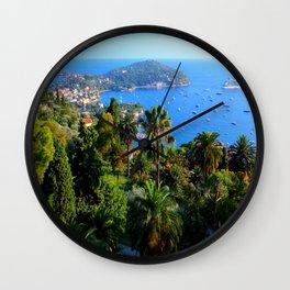 Looking Over Cap Ferrat Wall Clock