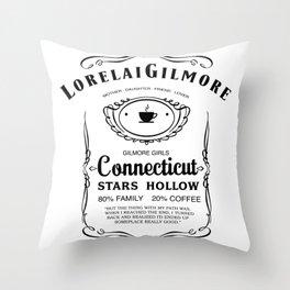 Lorelai Gilmore whiskey Throw Pillow