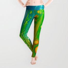 Aqua orange Leggings