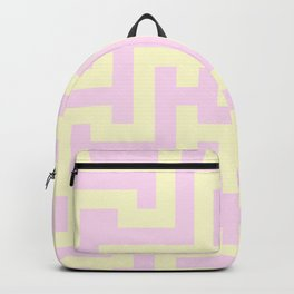 Cream Yellow and Pink Lace Labyrinth Backpack