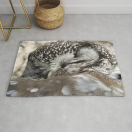Sweet dreams boreal owl Rug
