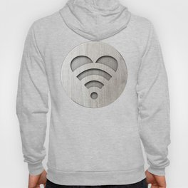 LOVE is all around - Wooden 3D Sign Hoody