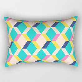 Retro GeoAbstract Rectangular Pillow