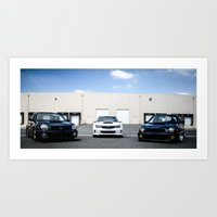subaru Art Prints featuring Subaru by Andre Elliott
