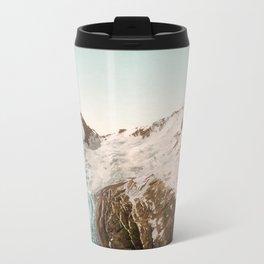 Vintage Mountain Peaks Metal Travel Mug