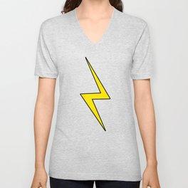 Lightning Bolt Pattern Unisex V-Neck