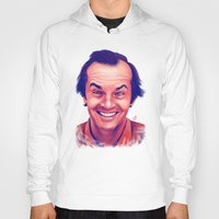 jack nicholson Hoodies featuring Young Jack Nicholson and the evil smile - digital painting by Thubakabra