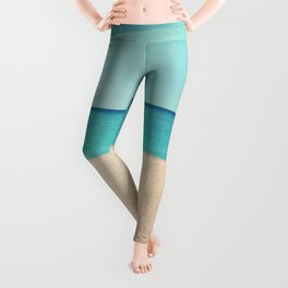A Beautiful Spring Day at the Beach III Leggings