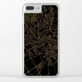 Black and gold Marrakesh map Clear iPhone Case