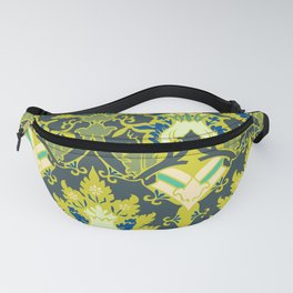 Gothic flowers pattern Fanny Pack