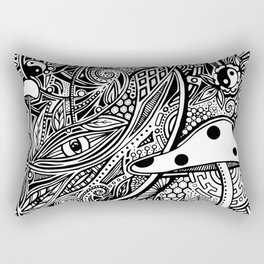 Zentangle Mushrooms Rectangular Pillow