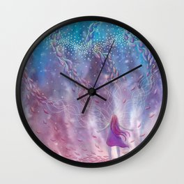 Aligning To Divine Energies Wall Clock