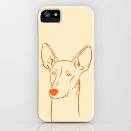 Ibizan Hound (Beige and Orange) iPhone Case