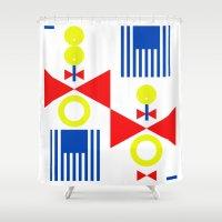clown Shower Curtains featuring clown by wolasek design