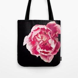 Pink Tulip Flower On A Black Background #decor #society6 #homedecor Tote Bag