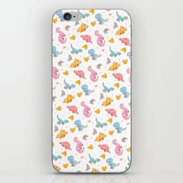 Dino party iPhone Skin
