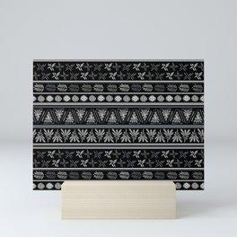 Bohemian Mud cloth Mini Art Print