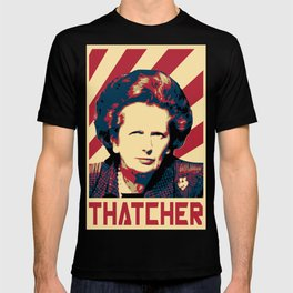 Margaret Thatcher Retro Propaganda T-shirt