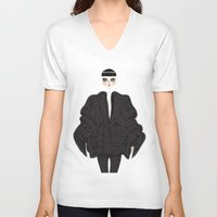 goth V-neck T-shirts featuring Elegant goth by \nicolafleming