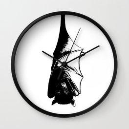 Drawing of Hanging Flying Fox Bat Wall Clock