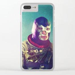 Luna Luchador Clear iPhone Case