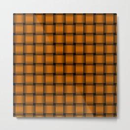 Dark Orange Weave Metal Print